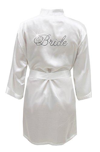 Satin Bride Robe With...