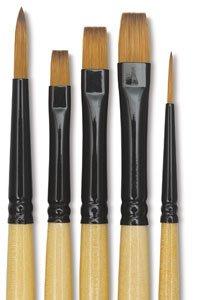 Dynasty Black Gold Decor Set - Decorative Mini Detail Brushes, Set of 5 ()