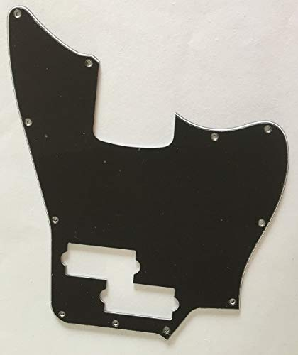 - Custom Guitar Pickguard For Squier Jaguar Bass Style (3 Ply Black)