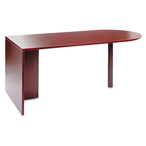 (ALERA VA277236MY Valencia Series D-Top Desk, 71w x 35-1/2d x 29-1/2h, Mahogany)