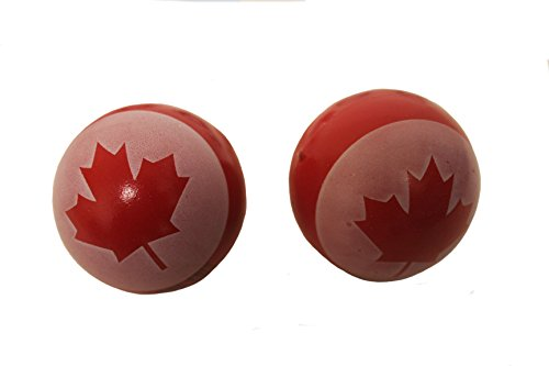 2 Canada Maple Leaf Rubber Balls .. High Quality .. - Ball Canada Chain