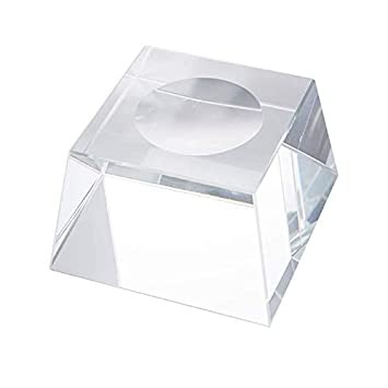 LONGWIN Trapezoid Dimple Blocks Glass Display Stand for 150-200mm Sphere 1pc