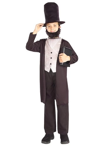[Kids Abraham Lincoln Costume - Large] (Abe Lincoln Hat And Beard)
