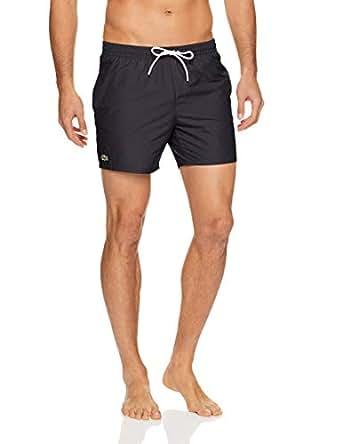 Lacoste Men's Basic Swim Shorts, Black/Navy Blue, R0S