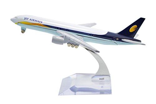 TANG DYNASTY(TM) 1:400 16cm Boeing B777 Jet Airways Metal Airplane Model Plane Toy Plane Model