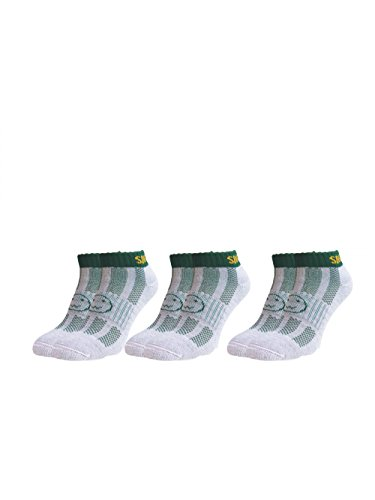 Three Pairs Supersaver Trainer Sports Socks South Africa Adult Shoe Size 7-11 Green by Wackysox