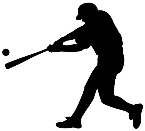 baseball silhouette wall decal - 6