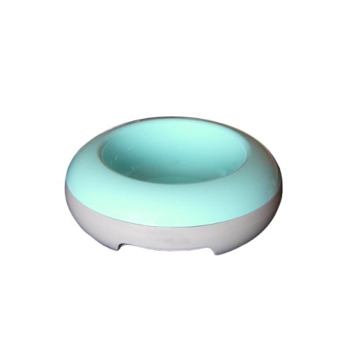 United Pets Eco-Thermic Hot/Cold Pet Food Bowl, Light Blue - Holds 9 oz.