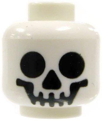 White Smiling Skull Minifigure Loose