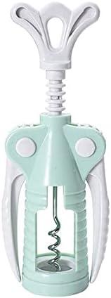 Dabeigouzkaipq abrelatas, 1 PC portátil de Acero Inoxidable abrelatas de Vino Tinto Tipo de ala Camarero plástico Vino sacacorchos Botella manija abridores sacacorchos (Color : Green)