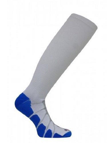 Sox Graduated Compression Tall Socks, White/Royal, Medium -