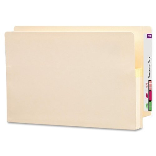 Wholesale CASE of 5 - Smead Recycled End Tab File Pockets-File Pockets, 1-3/4'' Exp, 15-3/8''x9-1/2'', Legal, 25/BX, MA