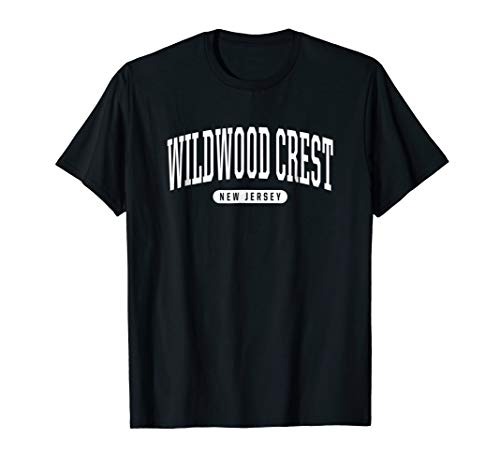 Wildwood Crest New Jersey T Shirt Wildwood Crest TShirt (College Style Crest T-shirt)