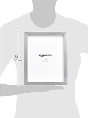 "AmazonBasics Photo Picture Frame - 8"" x 10"", Nickel, 2-Pack"