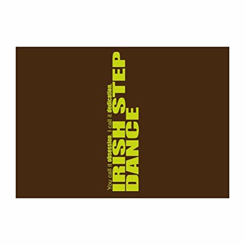 Teeburon Irish Step Dance DEDICATION Irish Step Dance Pack of 4 Stickers
