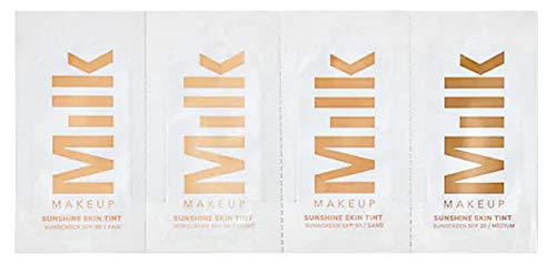 - Milk Makeup Sunshine Skin Tint Sunscreen SPF 30 Sample Packets (Fair, Light, Sand, Medium)