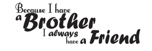 (Wall Decal Sticker Quote Vinyl Art Lettering Brothers Always Have a Friend)