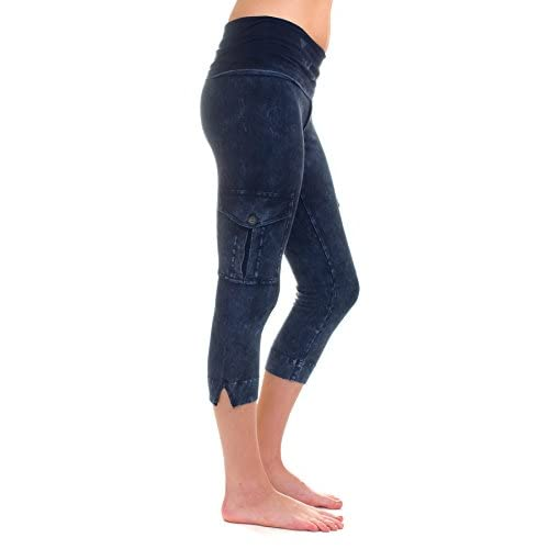 abf76b0865a Hard tail Rolldown contour Cargo Crop legging (navy mineral wash) free  shipping