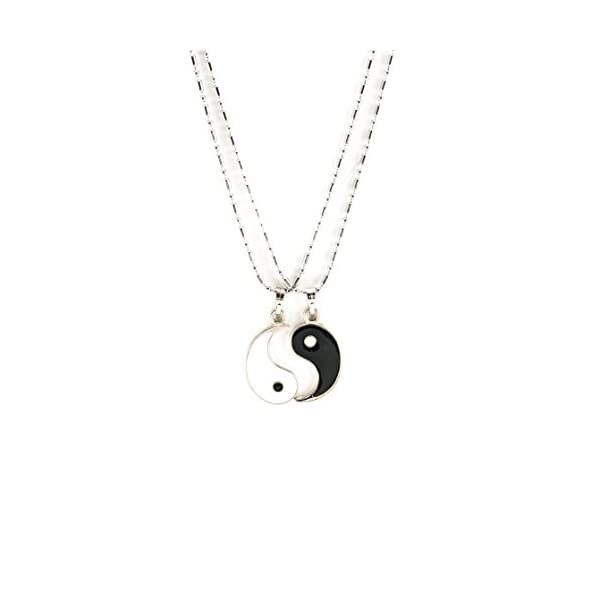 Kerrian Online Fashions 31aHmX7A3LL BlueRica 18 Inches Stainless Steel Chain Necklace Couple Set with Yin Yang Pendants