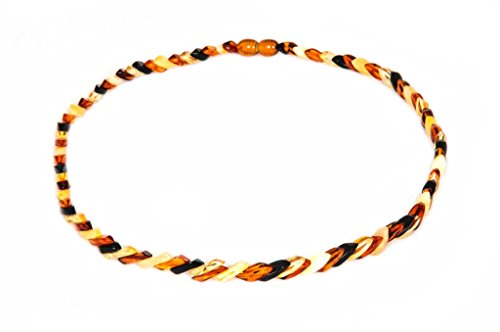AMBERAGE Natural Baltic Amber Necklace for Adults (45CM 17.72INCH)