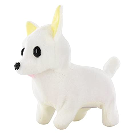 Kid's Barking Walking Wagging Chihuahua Puppy Dog Pat Toy White (Turn Concrete Into Gold)