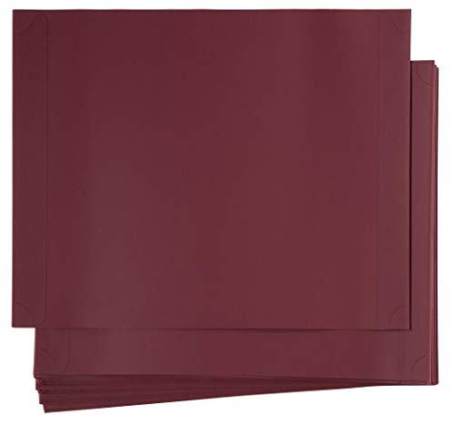 48-Pack Certificate Holder - Diploma Holder, Single Sided Holder for Letter-Sized Award Certificates and Documents Display, Red, 11.2 x 8.8 Inches ()