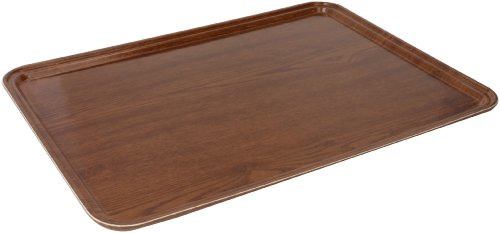Woodgrain Fiberglass Tray - Carlisle 1419WFG063 Fiberglass Glasteel Wood Grain Metric Tray, 20.87