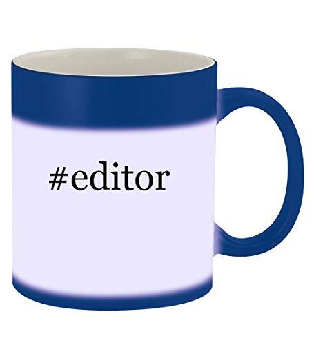 #editor - 11oz Hashtag Magic Color Changing Mug, Blue (Best Id3 Tag Editor)