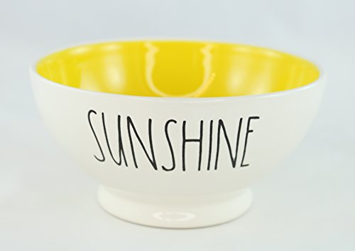 Rae Dunn Magenta Ceramic Cereal Bowl Sunshine - Cream/Yellow