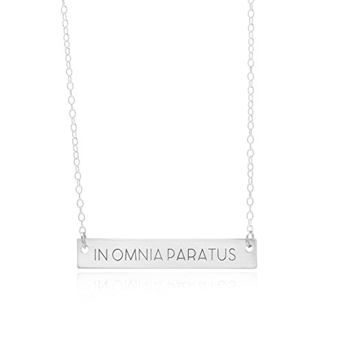 Omnia Bar (In Omnia Paratus Bar Necklace Strength Jewelry A Motivation Necklace Mantra Pendant Is An Inspirational Charm, In Omnia Paratus Bar Jewelry)