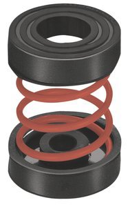 3-1/2''H x 2-1/8''Dia Red 510Lb Cap Unhoused Simple Spring Mount