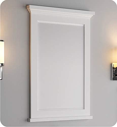 Fresca Windsor 24 Matte White Bathroom Mirror