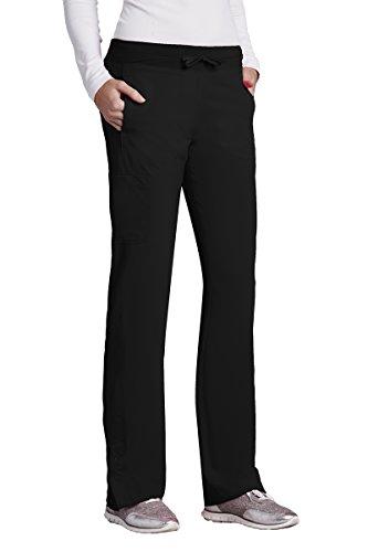 Barco One 5205 Cargo Track Pant Black XS Petite (Rise Petite Low Scrub Pants)