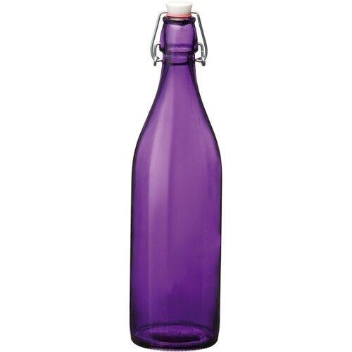 Bormioli Rocco Giara Purple Glass Swing Top Bottle - Purple Glass
