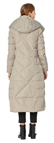Orolay Women's Puffer Down Coat Winter Maxi Jacket with Hood Beige XS by Orolay (Image #1)