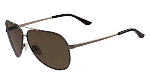 Sunglasses FERRAGAMO SF131SGP 211 SHINY BROWN W/DARK BROWN - Sunglasses Men Ferragamo