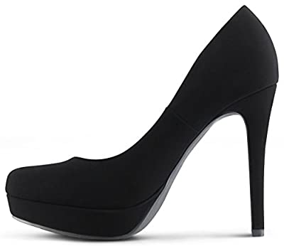 MARCOREPUBLIC Johannesburg Almond Toe High Heels Platform Shoes Stiletto Dress Pumps