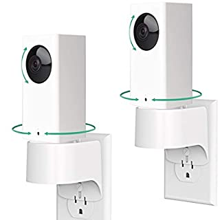 Pefecon for Outlet Wall Mount Wyze Cam Pan, Plug-in Wall Mount Stand for Indoor Smart Home Camera, Space Saving Design Without Messy Wires or Wall Damage (2 Pack)