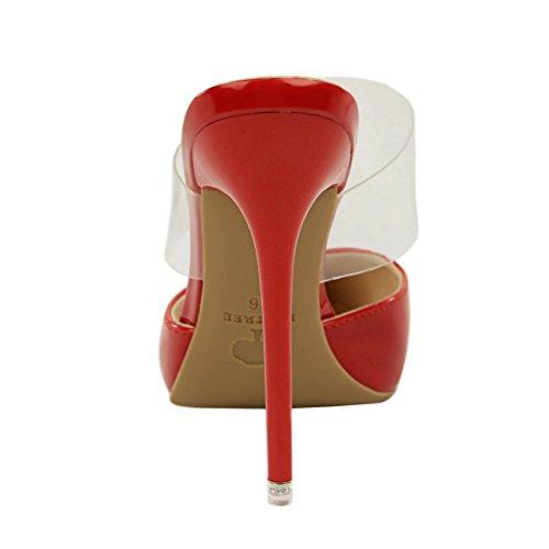 Escarpins 8 Femme DS86 36 Rouge Red pour Miyoopark MiyooparkUK 5 qEwp1pt