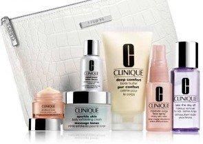 Clinique Gift Set 7 items, inc Moisture Surge Spray, Repairwear ...