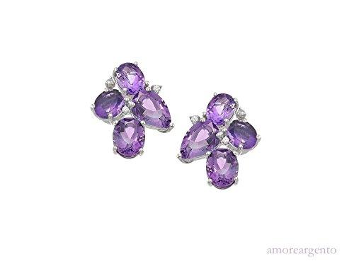 Boucles d'oreilles Violet