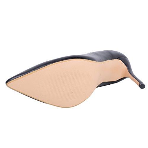 Calaier Womens Eleyou Pekte Tå 10cm Stiletto Slip-on Pumper Sko Svart B