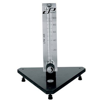 Cole-Parmer Valved Acrylic Flowmeter, 50 mm Scale for Air, 10-100 LPM