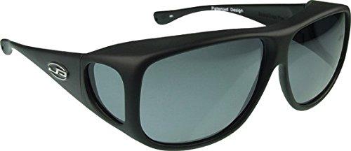 (Jonathan Paul Fitovers Eyewear Aviator Sunglasses (Matte Black, PDX,)