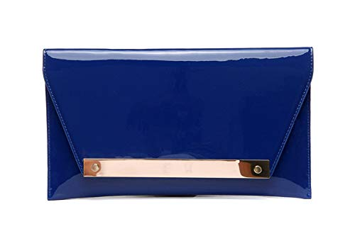Jours Crossbody Pochette Bal Fashion Bleu Enveloppe Parti Classique 11x5inch 29x12cm de à Verni soirée Main de Cuir Sacs Et d'autres Rouge Sac fériés soirée 8wr60P8x