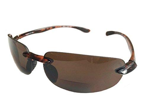 Rodeo Monacos Everyday Wrap Nearly Invisible Line Bi focal Sun reader Sunglasses (Turtoise, - Monaco Sunglasses