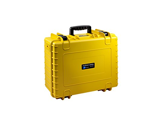 B&W International 6000/Y/Solo 6000 Waterproof 3DR Solo, Durable Type, Outdoor Case with Custom Insert, Yellow
