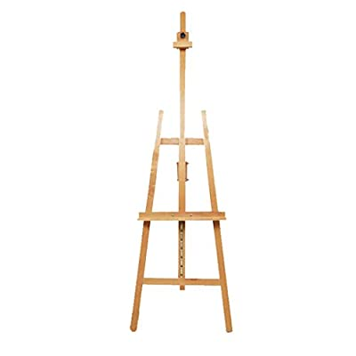 Beech Wood Painting Frame, Student Sketch Sketching Easel, Assembling and Lifting 150~185 Height Adjustable Easel, Real Estate Photo Studio Display Advertising Rack