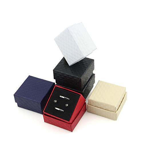 Decoraciones Daliuing Caja de Regalo de Alta Gama Arete Anillo Broche Gemelos Joyero Caja de Embalaje para Fiestas Aniversarios Bodas