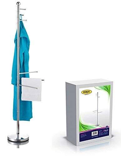 Perchero de pie toallero portatoallas en acero 6 berazos porta toallas baños